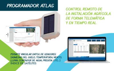 UN NOU PRODUCTE: Atlas – el dispositiu informàtic intel·ligent d'irrigació | el dispositivo informático inteligente de irrigación