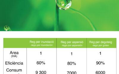 Sabies que… els majors rendiments dels cultius s'obtenen en regadiu?